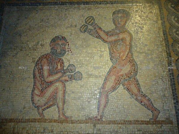 Pugilistes aux prises, Thuburbo Majus, IIIe siècle