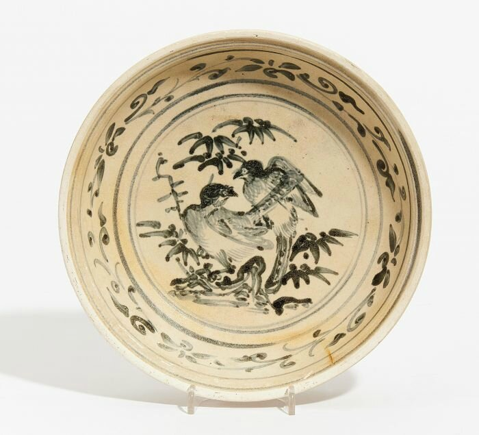 Plate with birds, North Vietnam, Annam, Late 15th century