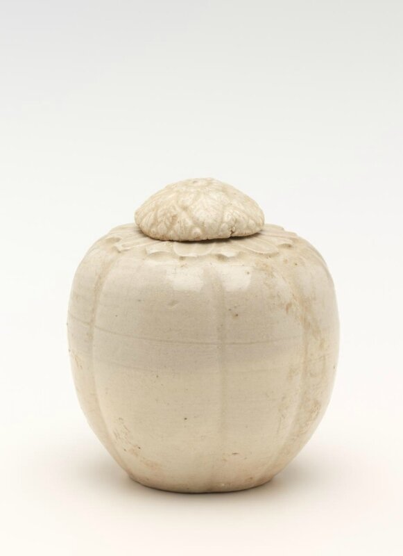 Small covered jar with lotus petal lid, Vietnam, 11th century-13th century