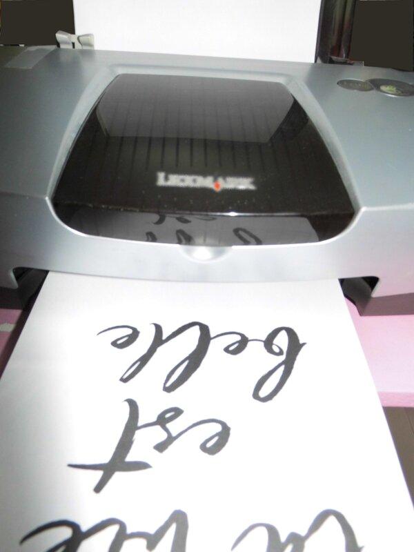imprimante la vie