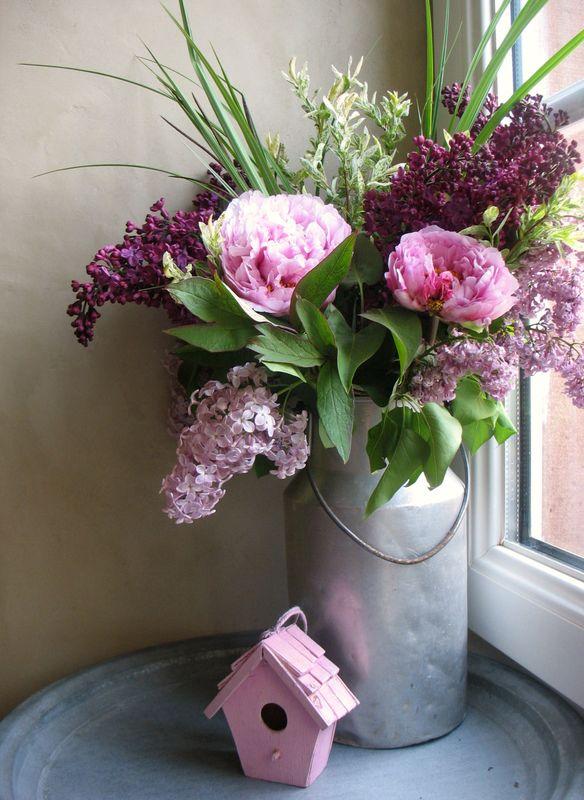 Bouquet Aux Pivoines Coeur Cannelle