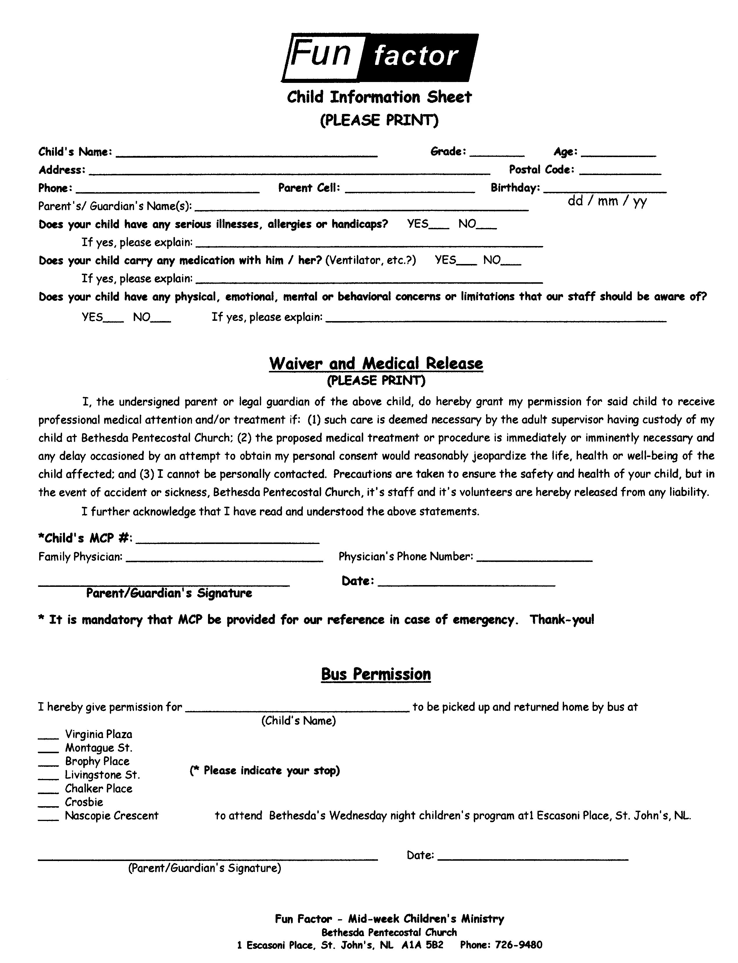 Forms For Kids To Fill Out Images