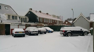 Pak sneeuw bedekt Den Helder
