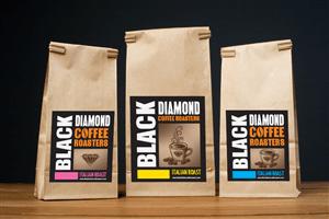 Black Diamond Coffee Bean Labels Label Design Contest
