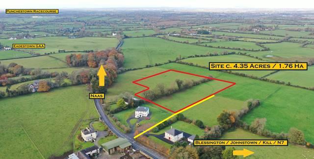 Site C. 4.35 Acres/ 1.76 Ha., With Planning For Detached Bungalow. Eadestown Vig, Naas, Co. Kildare