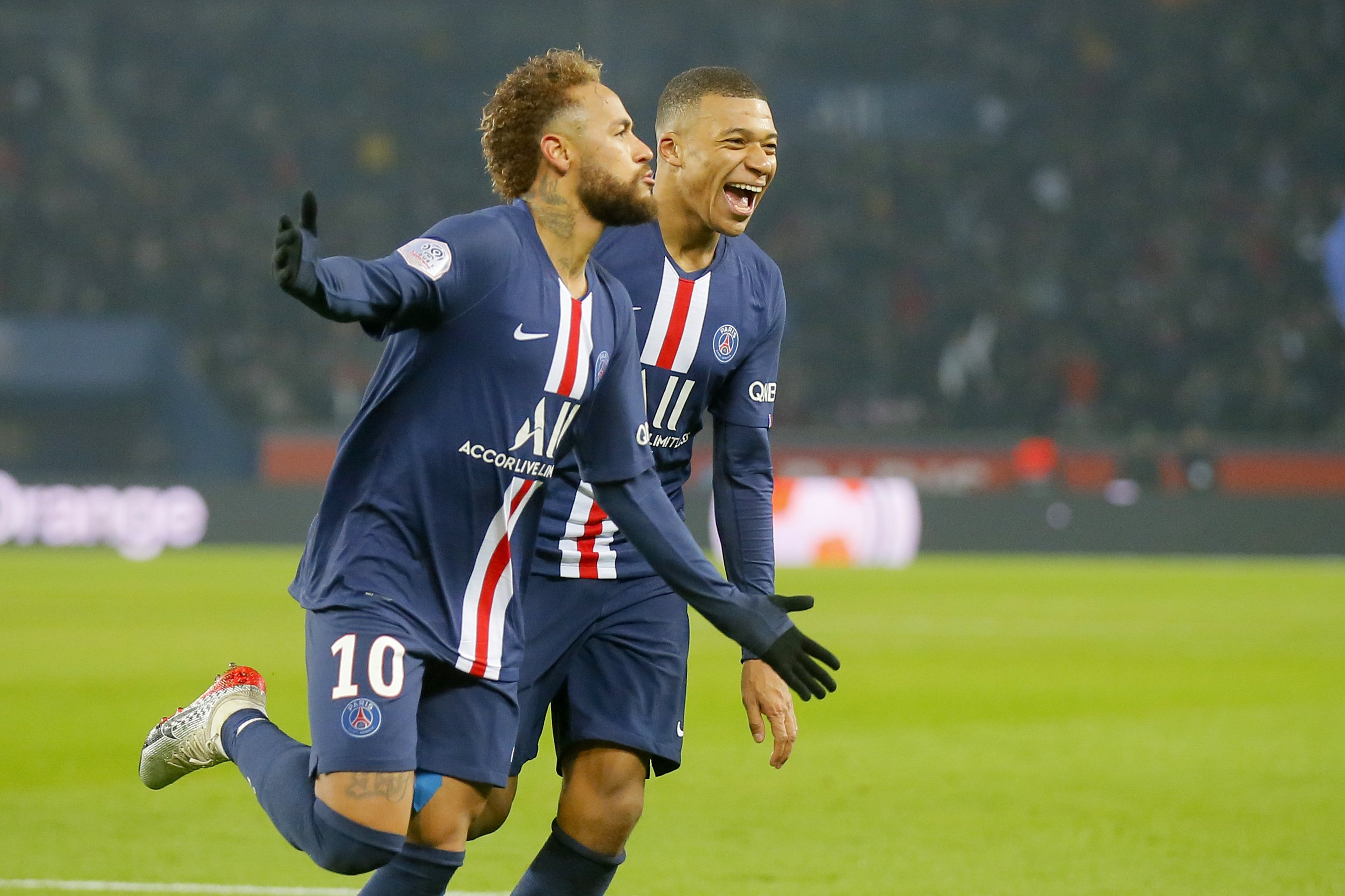 neymar mbappe and icardi score as psg