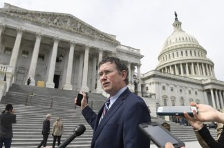 GOP's Thomas Massie outrages House and President Trump by seeking to stall if not block vote