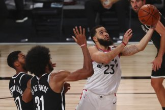 Fred VanVleet leads Raptors to 134-110 triumph over Brooklyn Nets