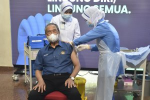 Asian nations receive first shots