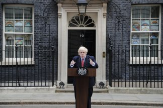 Back on the job, Prime Minister Boris Johnson warns strongly against easing the country's lockdown amidst other nations lifting their restrictions