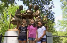 Central Park monument honors women's rights pioneers
