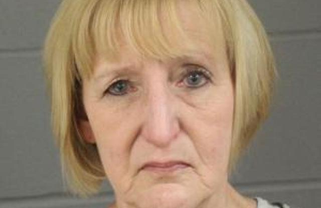 FILE - This March 8, 2019 booking photo released by Minnehaha County, S.D., Jail shows Theresa Bentaas. The South Dakota woman has been convicted of manslaughter in the death of her newborn son whose body was discovered in a ditch 40 years ago. Bentaas, 60, of Sioux Falls, entered an Alford plea to first-degree manslaughter Friday, Oct. 8, 2021 in an agreement with prosecutors. (Minnehaha County Jail/KELO via AP File)