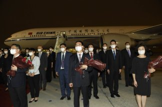Staff of the Chinese consulate in Houston has returned to China