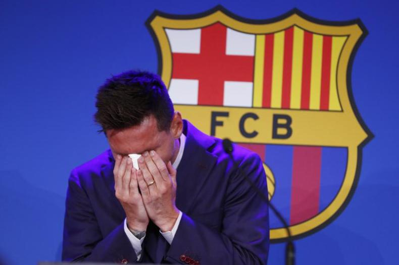 Messi breaks down, says he wasn't ready to leave Barcelona