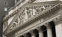 Pullback in markets overseas puts an abrupt stop to Wall Street gains