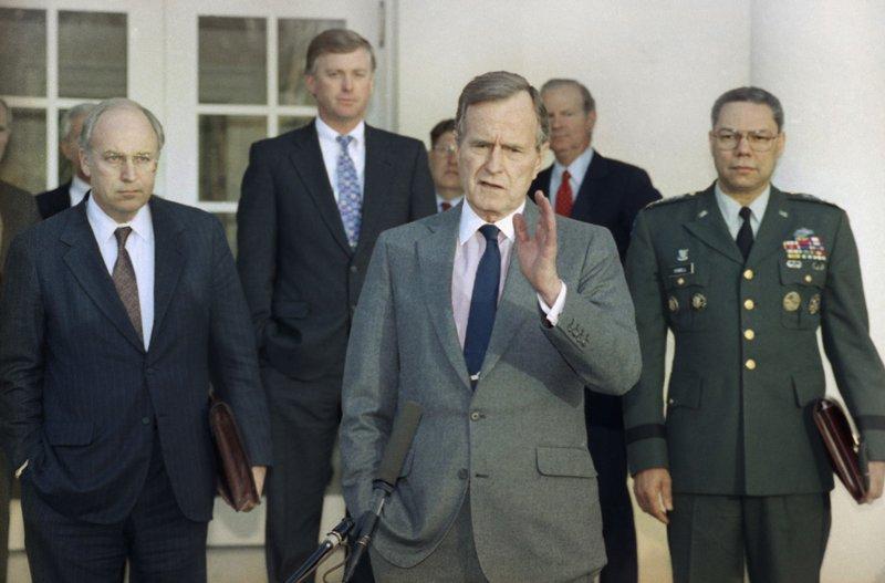 George H.W. Bush, Dick Cheney, Dan Quayle
