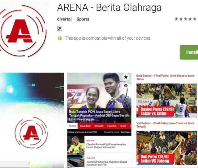 Aplikasi Berita Olahraga Untuk Android Paling Update Terbaik
