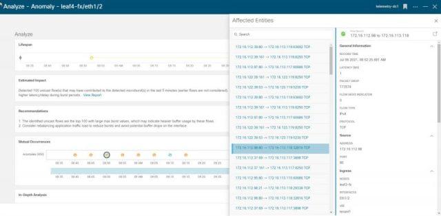 Figure 3: Nexus Dashboard Insights Microburst Anomaly