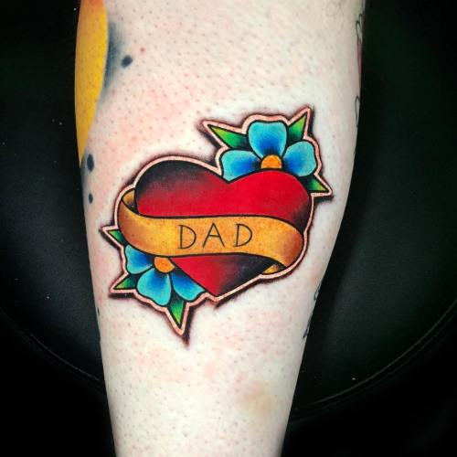 Dad tattoo by Luke Cormier