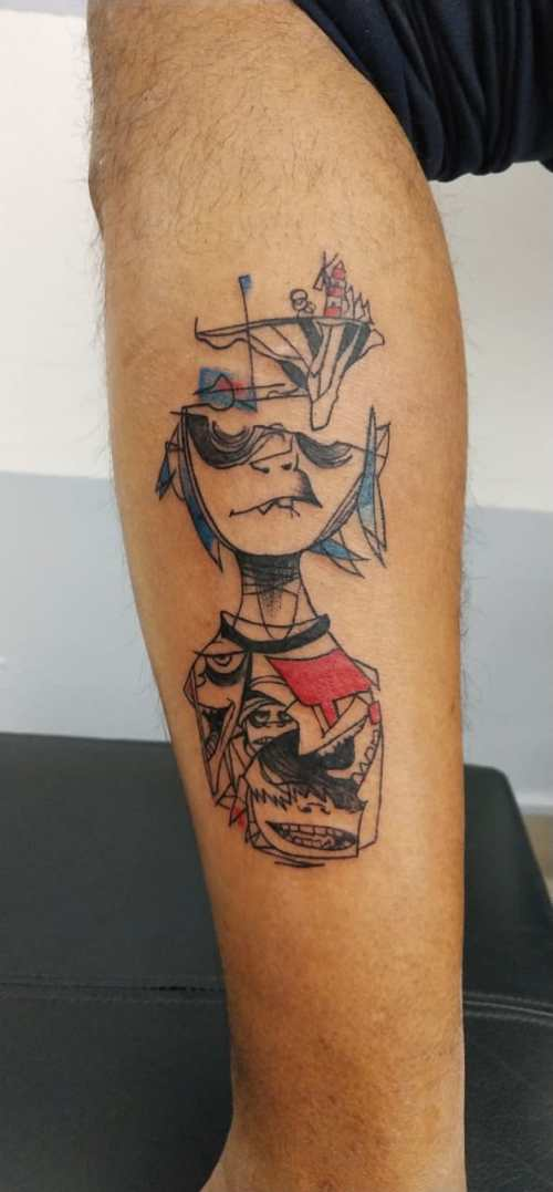 Gorillaz music tattoo from Ancient