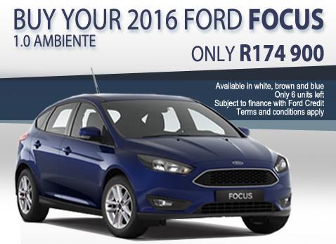 2016 Ford Focus 1.0 Ambiente special R174 900