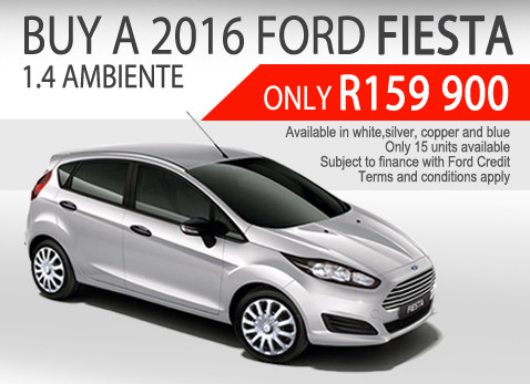 2016 Ford Fiesta 1.4 Ambiente special - Only R159 900