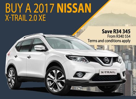 2017 Nissan X-Trail special - Save R34 345