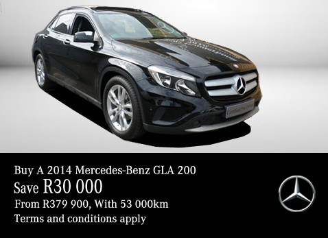 2014 Mercedes Benz GLA 200 - Save R30 000