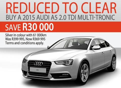 2015 Audi A5 2.0 TD Multi-Tronic - SAVE R30 000!