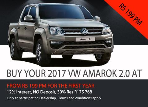 2017 Volkswagen Amarok 2.0 no deposit special