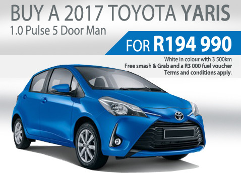 2017 Toyota Yaris 1.0 Pulse 5 Door Manual special