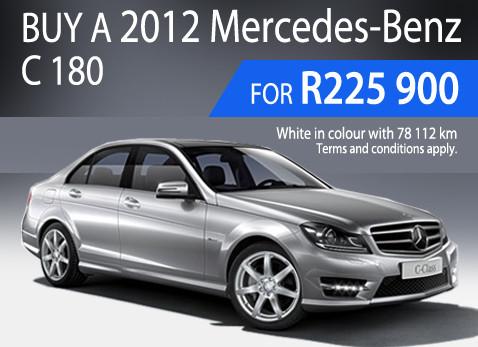 2012 Mercedes Benz C180 - Ony R225 900