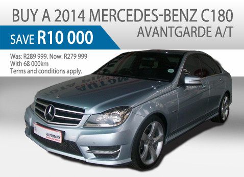 2014 Mercedes Benz C180 Avantgarde A/T - Save R10 000