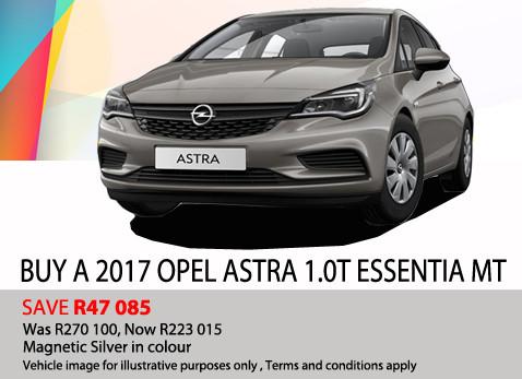 2017 Opel Astra 1.0T Essentia