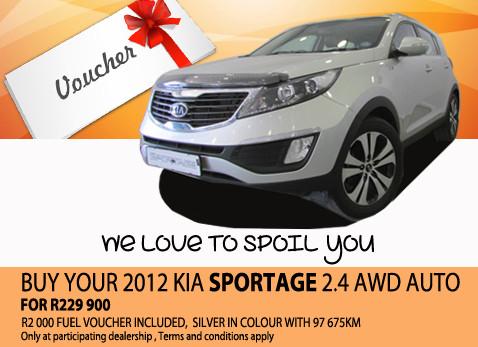 2012 Kia Sportage 2.4 AWD Auto For R229 900