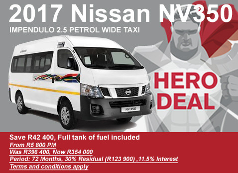 2017 Nissan Impendulo NV350 taxi - Save R42 000