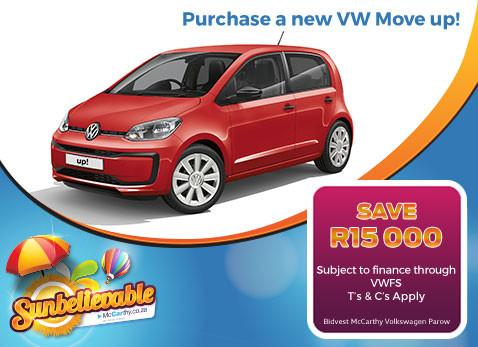 PURCHASE A NEW VW MOVE UP! - Save R15 000!