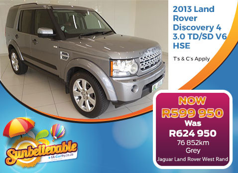 2013 LAND ROVER DISCOVERY 4 3.0 TD/SD V6 HSE - Save R25 000