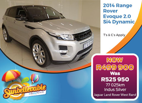 2014 RANGE ROVER EVOQUE 2.0 SI4 DYNAMIC - Save R26 050