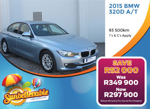 2015 BMW 320D A/T - Save R52 000