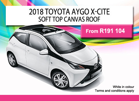 2018 TOYOTA AYGO X-CITE SOFT TOP CANVAS ROOF from R191 104