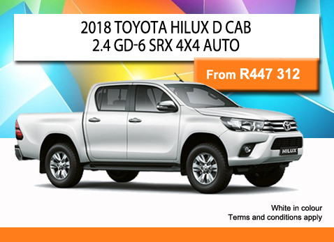 2018 TOYOTA HILUX D CAB 2.4 GD-6 SRX 4X4 AUTO from R447 312