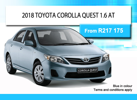 2018 TOYOTA COROLLA QUEST 1.6 AT from R217 175