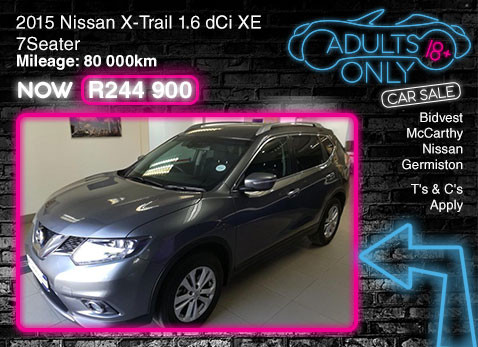 2015 NISSAN X-TRAIL 1.6 DCI XE 7 SEATER special