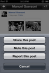 Share or Re-Share a post on google plus iphone app