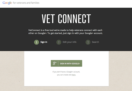Vet Connect for veterans on Google+