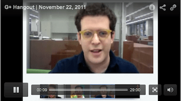 New York Times Google+ Hangout