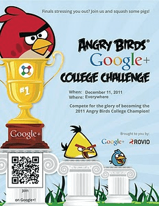 Angry Birds Google+ College Challenge
