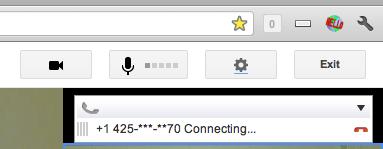 Google+ hangout connecting phone