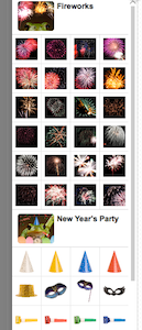 Google+ photos Fireworks and New Year's party special effects